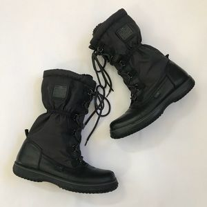 {Coach} Sage Black Insulated Winter Boots Size 8